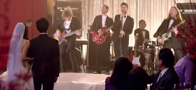 Een live bandje op je trouwfeest.